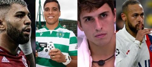 Prior recebeu o carinho e apoio de Gabigol, Neymar e outros atletas. (Foto: Montagem/Instagram/Globo).