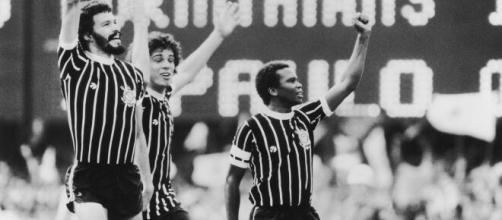 Sócrates (esq.) foi o responsável por 4 dos 10 gols da maior goleada do Brasileirão. (Arquivo Blasting News)