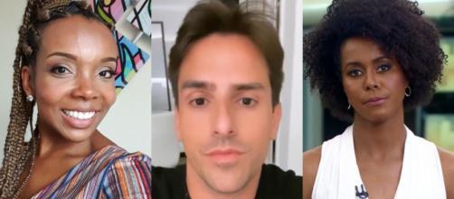 Thelma e Maju Coutinho foram vítimas de suposto racismo feito por Rodrigo Branco. (Arquivo Blasting News)