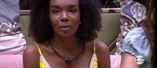 Thelma foi indicada ao paredão pela líder Ivy. (Reprodução/TV Globo)