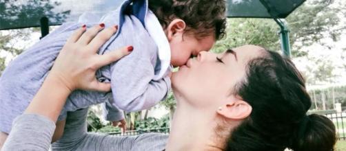 Danna García e o filho Dante. (Reprodução/Instagram)