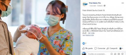 Las enfermeras fabricaron mascarillas para proteger a los recién nacidos del coronavirus.
