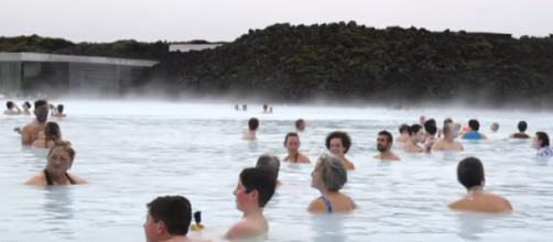 View of the Blue Lagoon in Iceland. [Image source/Insider YouTube video]