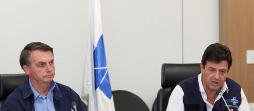 Bolsonaro e Mandetta, relação conturbada. (Arquivo Blasting News)