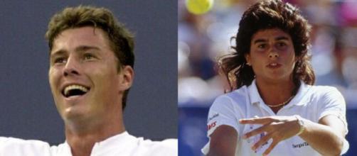 Marat Safin e Gabriela Sabatini, vincitori dei US Open nel 2000 e 1990.