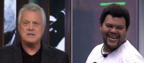 Pedro Bial afirmou que Babu seria o 'primeiro campeão negro'. (Reprodução/TV Globo)