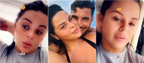 Sarah Fraisou (La Villa des Coeurs Brisés 5) annonce sa rupture avec Ahmed. ®Snapchat