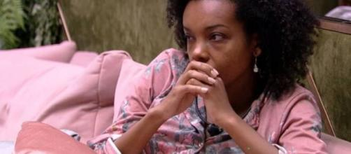 Thelma votou em Babu e disse estar culpada. (Reprodução/TV Globo)