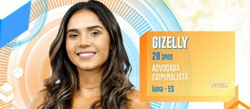 """""""BBB20"""": Gizelly é advogada e começou a disputa do reality no grupo """"Pipoca"""". (Reprodução/TV Globo)"""