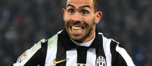 Carlos Tevez, ex punta della Juventus.