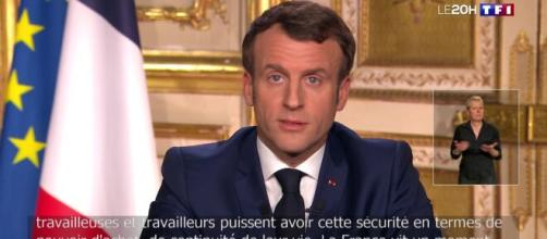 Réouverture des écoles le 11 Mai, déclare Emmanuel Macron. Credit : Capture TF1