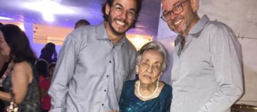 Dona Lenira, tia do namorado de Fátima Bernardes, Túlio Gadêlha, morre vítima do novo cornavírus. (Arquivo Pessoal)