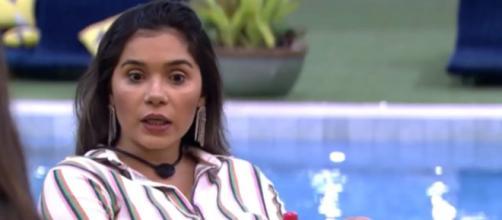 Gizelly reclama de Babu. ( Reprodução/TV Globo )