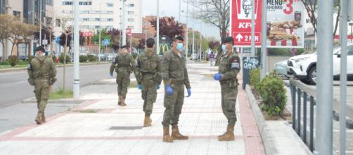 Las patrullas militares son uno de los aspectos más visibles de la Operación Balmis de las FAS contra el Coronavirus
