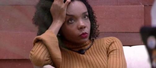 Thelma chora por ter votado em Babu no paredão de ontem do 'BBB20'. (Reprodução/TV Globo)
