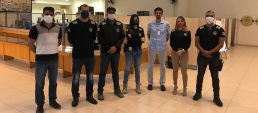 Polícia Civil doa máscaras apreendidas ao Hospital Municipal de Uberlândia. (Divulgação/Polícia Civil)