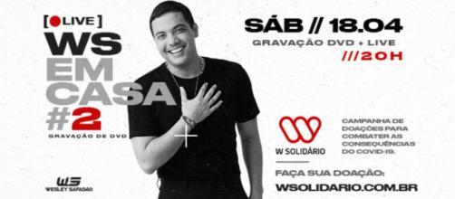 Wesley Safadão postou trechos de cada música nas redes sociais. Elas serão lançadas no próximo sábado (18). Foto: Reprodução/ Facebook oficial.