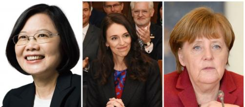 Coronavirus : Tsai Ing-Wen, Jacinda Ardern et Angela Merkel. Credit : Wind92/European People's Party/Governor-General of New Zealand