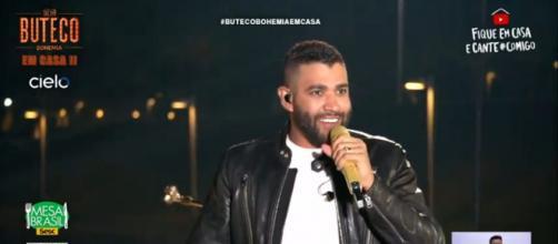 Gusttavo Lima durante show online (Reprodução/Instagram/@gusttavolima)