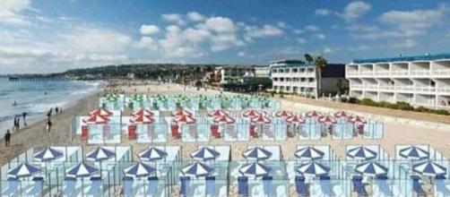 Una empresa italiana propone la colocación de mamparas en las playas