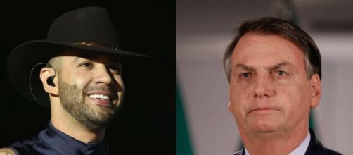 Jair Bolsonaro sai em defesa de Gusttavo Lima e elogia iniciativa do cantor em suas lives. (Arquivo Blasting News)