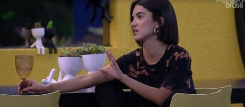 Manu especula sobre Big Fone. (Reprodução/TV Globo)