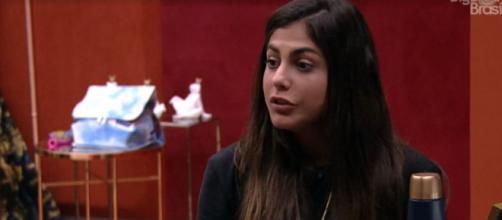 Mari fala sobre suas possíveis indicações ao paredão. (Reprodução/TV Globo)
