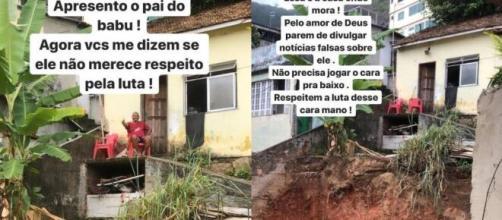 Micael Borges mostrou a casa do pai de Babu aos internautas. (Reprodução/Instagram/@micaelborges).