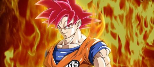 Goku nella trasformazione Super Saiyan God