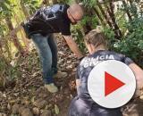 Policiais encontraram o corpo da mulher no terreno. (Divulgação/ Polícia Civil)