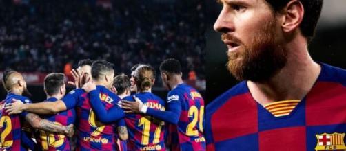 Leonel Messi muestra su enfado con la dirigencia blaugrana.