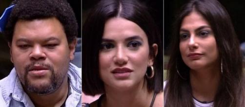 Babu, Manu e Mari estão no paredão. (Reprodução/TV Globo)