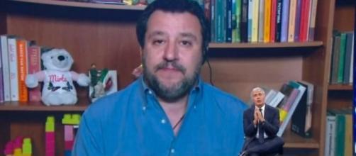 Massimo Giletti intervista Matteo Salvini a Non è l'Arena.