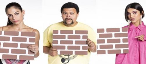 """No """"BBB20"""", Babu, Manu e Mari disputam o paredão. (Reprodução/TV Globo)"""