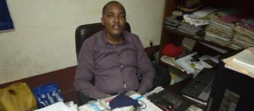 Christian Nana Tchuisseu, Directeur du Musée la Blackitude à Yaoundé (c) Odile Pahai