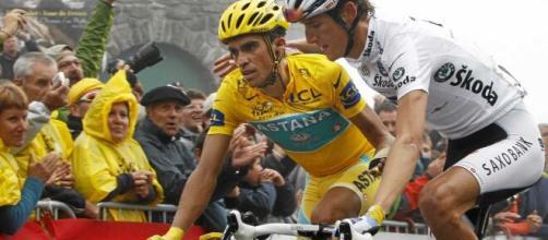 Alberto Contador durante il Tour de France 2010