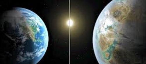 Comparación de la Tierra con el nuevo planeta.