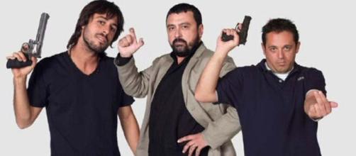 Imagen promocional de 'Los hombres de Paco' con Hugo Silva, Paco Tous y Pepón Nieto (Antena 3)