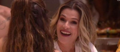 Ingrid Guimarães participa de festa do 'BBB20'. (Reprodução/TV Globo)