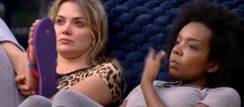 Marcela declara torcer por Thelma: 'Seria maravilhoso para história do BBB'. (Reprodução/TV Globo)