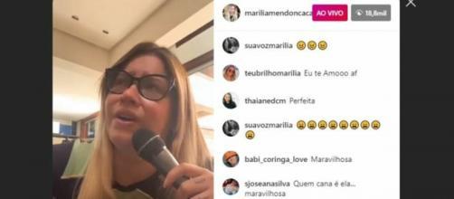 Marília Mendonça usou as redes sociais para fazer live e divulgar vídeos cantando em inglês. (Reprodução/ Instagram).