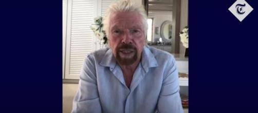 Richard Branson sends message to Virgin Australia staff after his airline goes into administration. [Image Source: TheTelegraph/YouTube]]