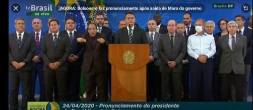 Bolsonaro comenta sobre Sérgio Moro. (Reprodução/YouTube)