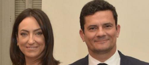 Sergio Moro e esposa. (Reprodução/Instagram)