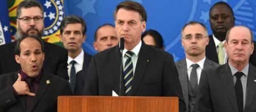 Bolsonaro faz pronunciamento sobre Moro. (Arquivo Blasting News)