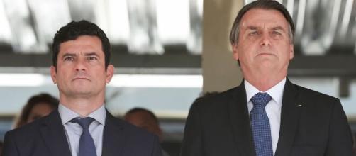 Moro e Bolsonaro trocaram farpas nesta sexta-feira. (Arquivo Blasting News)