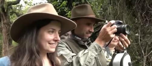 Tourists in Virunga National Park gorilla trek. [Image source/VOA Africa YouTube video]