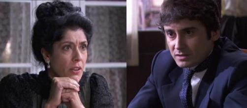 Una Vita, trame spagnole: Rosina furiosa con Liberto per aver prestato dei soldi a Samuel.