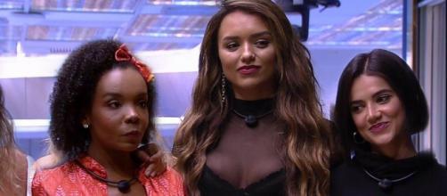 """Thelma, Manu e Rafa são as finalistas do """"BBB20"""". (Reprodução/TV Globo)"""