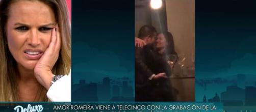 Marta López viendo el vídeo de la segunda deslealtad de su pareja Alfonso Merlos (Telecinco)